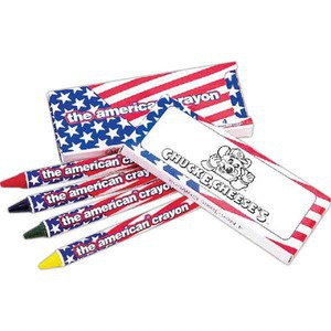 Custom Printed Patriotic Crayon Sets