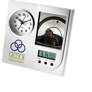 1 Day Service Contemporary Multi Function Clocks, Custom Designed With Your Logo!