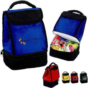 Custom Printed 1 Day Service Dual Compartment Insulated Bags