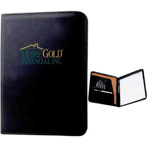 1 Day Service Leatherette Backed Portfolios, Custom Designed With Your Logo!