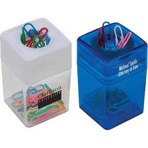 Custom Printed 1 Day Service Magnetic Wheel Paperclip Dispensers