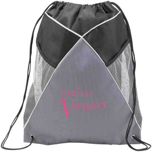 Custom Printed 1 Day Service Mesh Pullstring Drawstring Backpacks