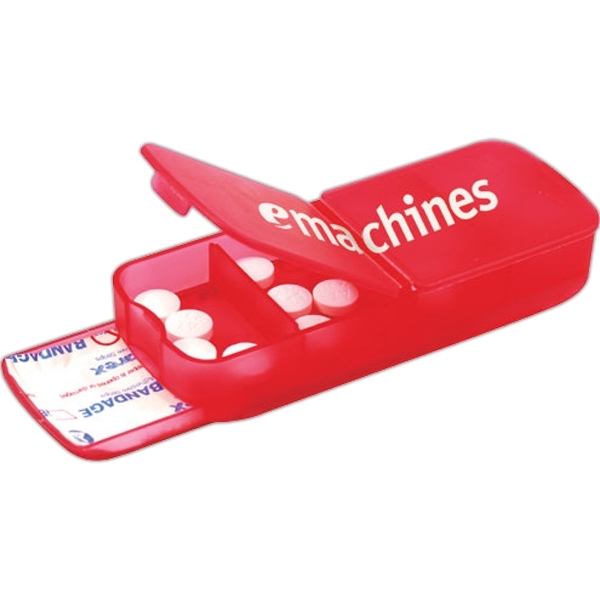 1 Day Service Pill Cases and Pill Cutters, Personalized With Your Logo!