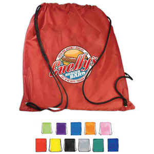 Custom Printed 1 Day Service Polyester 600 Denier PVC Drawstring Backpacks