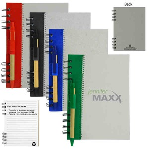 1 Day Service Recycled Paper Notebooks, Custom Decorated With Your Logo!