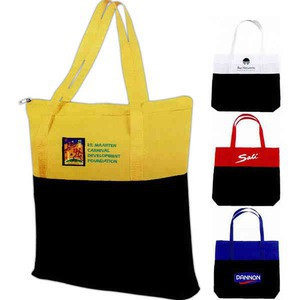 1 Day Service Zippered Main Compartment Tote Bags, Customized With Your Logo!
