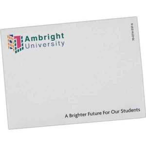 10 Sheet Post-It Notepads, Custom Imprinted With Your Logo!