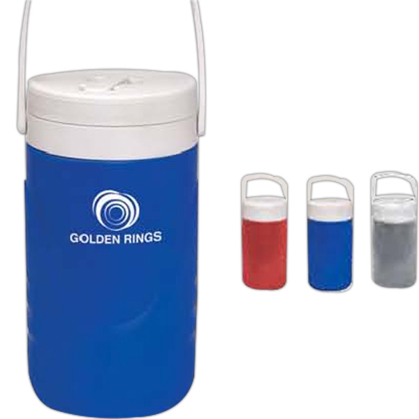 Half Gallon Beverage Jugs, Custom Printed With Your Logo!