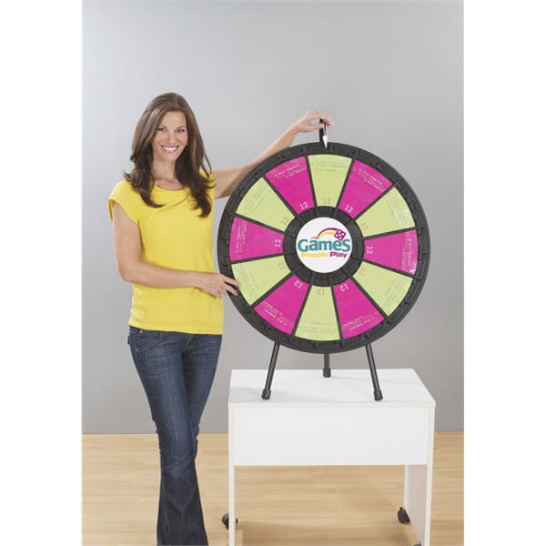 Custom Printed Clear Table Top Prize Wheels