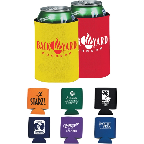 Custom Imprinted Red Color Can Coolers