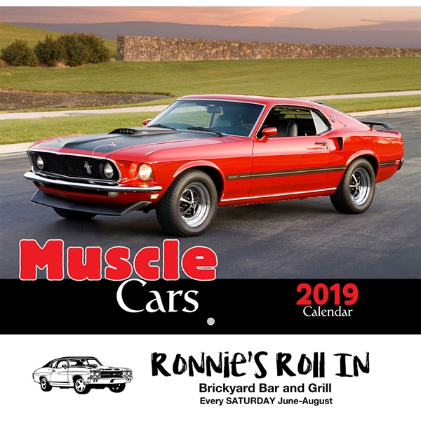 Custom Printed Muscle Cars Appointment Calendars