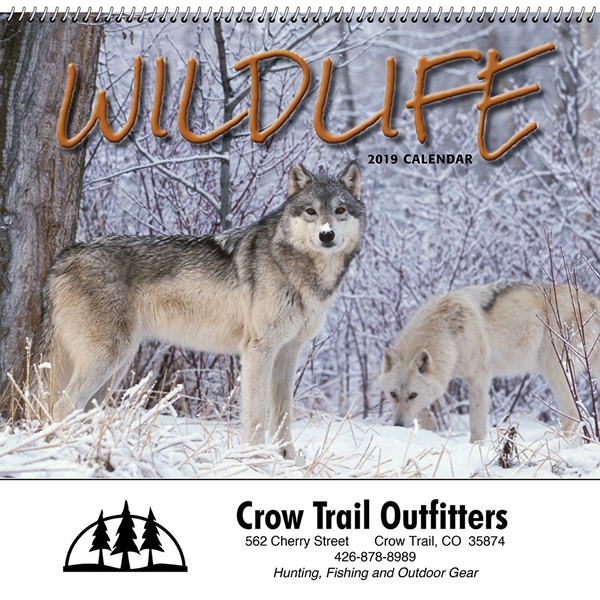 Custom Printed Wildlife Art by the Hautman Brothers Executive Calendars