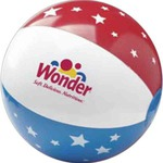 Custom Imprinted 16 inch Stars and Stripes Patriotic Beach Balls