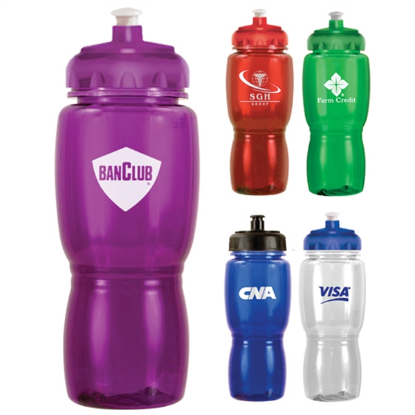 Custom Imprinted Purple Color Sport Bottles