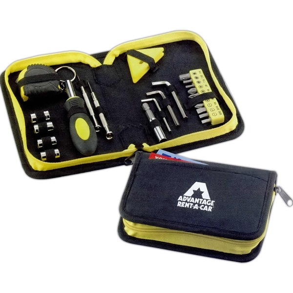 Custom Printed 1 Day Service Deluxe Tool Sets with Leatherette Cases