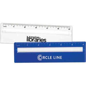 Custom Printed 3 Day Service 2-in-1 Magnifier Rulers