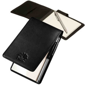 Custom Printed 3 Day Service Faux Leather Memo Holders