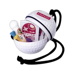 Custom Printed 3 Day Service Golf Ball Shaped Golf Kits with Neck Ropes