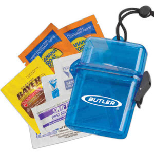 Custom Printed 3 Day Service Golfers Survival Kit Filled Waterproof Containers