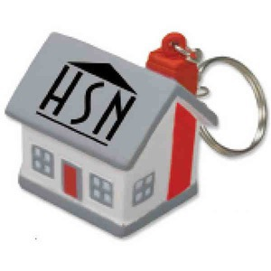 Custom Printed 3 Day Service House Shaped Key Chain Lights