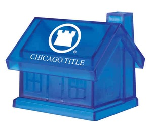 Custom Printed 3 Day Service House Shaped Savings Banks