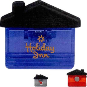 Custom Printed 3 Day Service Jumbo House Shaped Magnetic Memo Holders and Clips