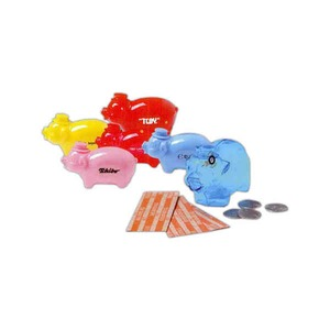 Custom Printed 3 Day Service Porky Shaped Savings Banks