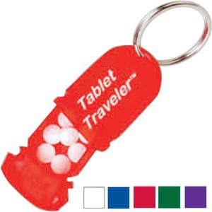3 Day Service Traveler Pill Key Chains, Custom Made With Your Logo!