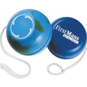 Custom Printed 3 Day Service World and Globe Yo Yos