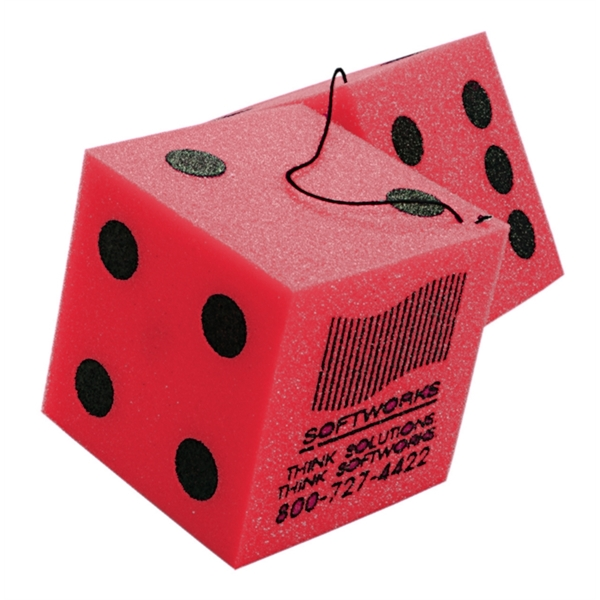 Foam Dice, Custom Imprinted With Your Logo!