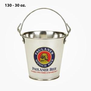 30oz tin buckets custom imprinted with your logo
