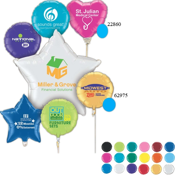 Microfoil Balloons, Personalized With Your Logo!