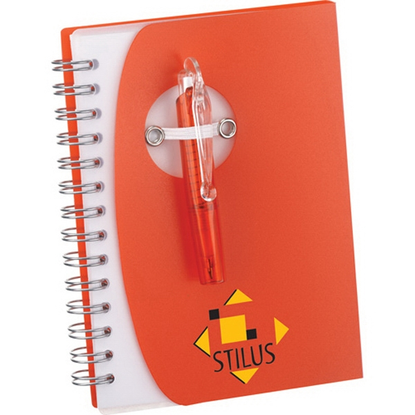 1 Day Service Notebooks with Folding Mini Pens, Customized With Your Logo!