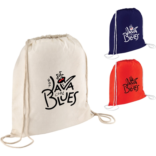 Custom Printed 1 Day Service Drawstring Backpacks with Rope Closures