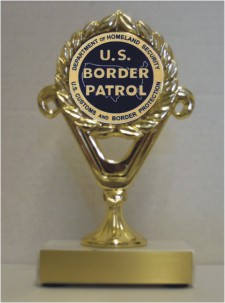 Custom Printed U.S. Border Patrol Trophies
