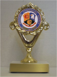 Custom Printed Defense Commissary Agency Trophies