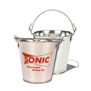 55oz tin buckets custom printed with your logo