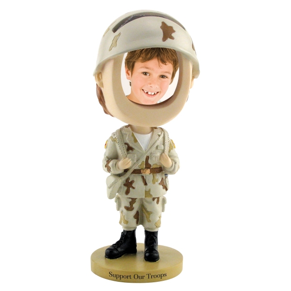 Custom Printed Soldier Bobble Head Picture Frames