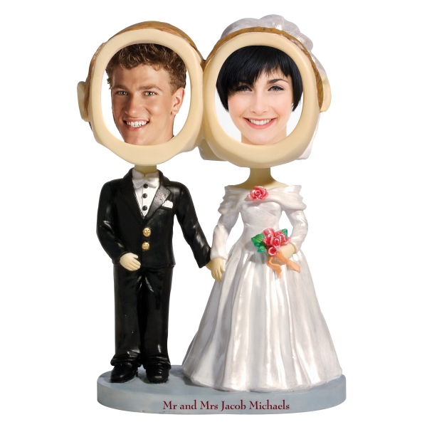 Custom Printed Bride And Groom Bobbleheads
