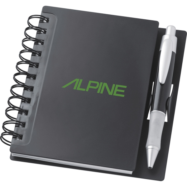 1 Day Service Spiral Hard Plastic Cover Notebooks, Custom Made With Your Logo!