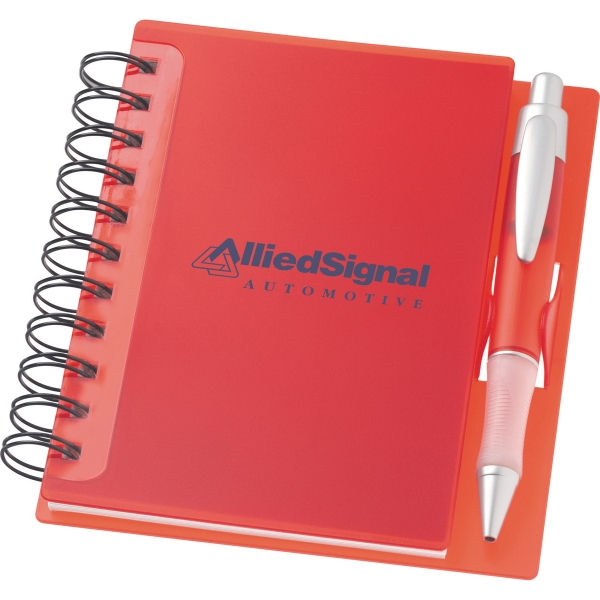 1 Day Service Spiral Notebook and Pen Lanyard Gift Sets, Customized With Your Logo!