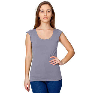 Custom Printed American Apparel Sheer Jersey 2 Sided Tops For Women