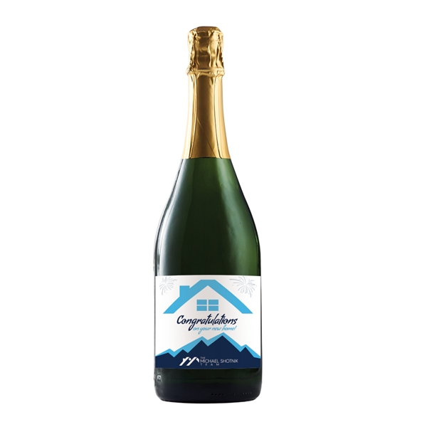 Labeled California Champagne Wine Bottles, Custom Printed With Your Logo!