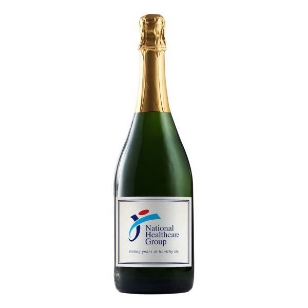 Labeled Sparkling Grape Juice Wine Bottles, Custom Imprinted With Your Logo!