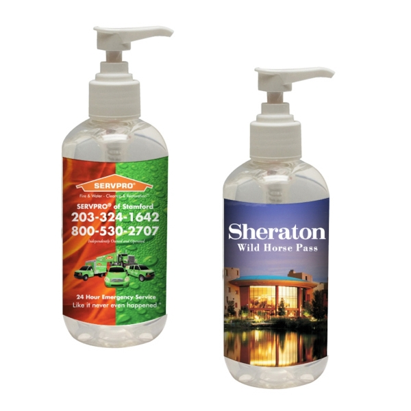 Custom Printed Antibacterial Hand Sanitizer Pump Bottles