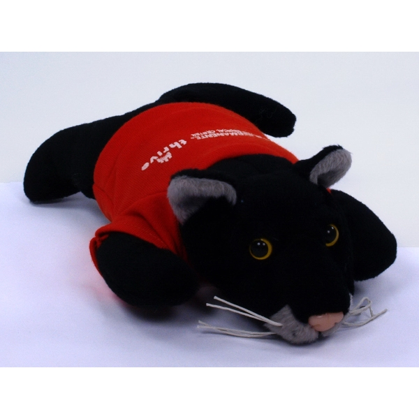 Custom Printed Panther Mascot Plush Stuffed Animals