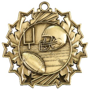 Custom Printed Football Sunray Medals