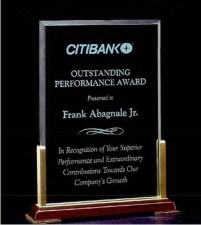 Airflyte Acrylic Honor Award Engraved, Personalized With Your Logo!