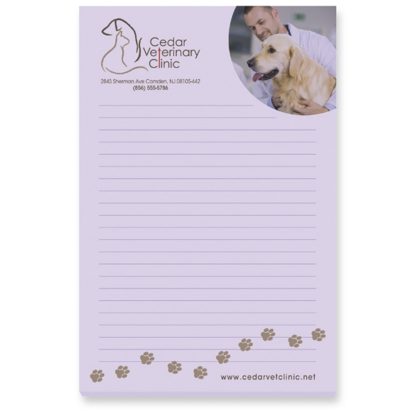 100 Sheet Post-It Notepads, Customized With Your Logo!