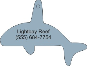Custom Printed Whale 2 Animal Stock Shape Air Fresheners